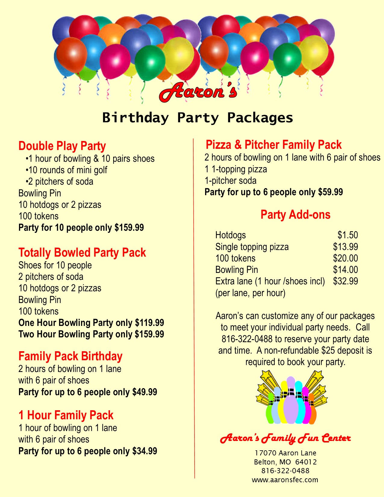 Click Here For Teen Party Info